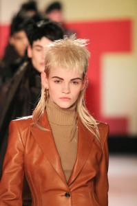Ein Model bei Jean Paul Gaultier im Frühjahr diesen Jahres. Credit: Getty Images.