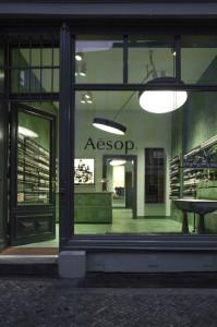 So sieht der neue Aesop-Store aus, wenn keine Leute sich darin stapeln. Credit: Aesop