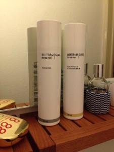 Bestanden! Die Produkte von Bertram Sans begeistern den Glatzenträger.