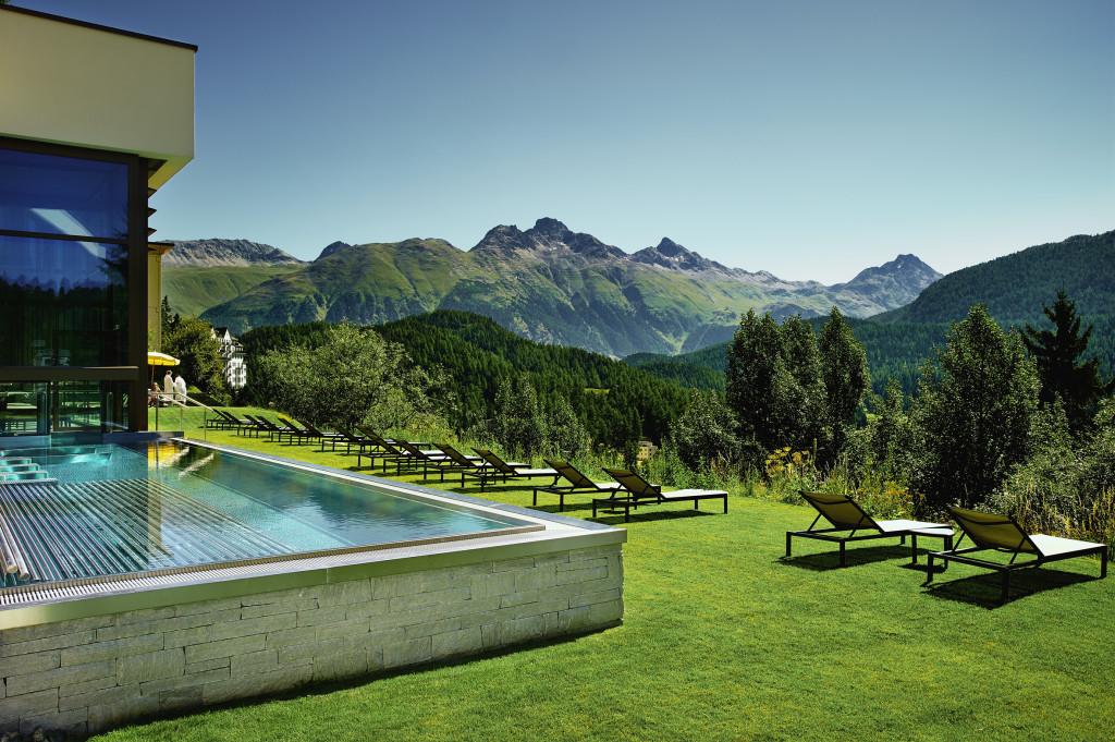 Kulm Hotel St. Moritz: Das Bergpanorama