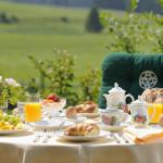 Entspannung beginnt auf der Sonnenalp bereits beim Frühstück.